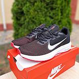 Чоловічі кросівки в стилі Nike Running чорні з білим і червоним, фото 2