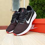 Чоловічі кросівки в стилі Nike Running чорні з білим і червоним, фото 4