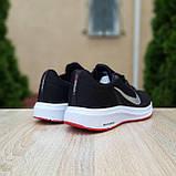 Чоловічі кросівки в стилі Nike Running чорні з білим і червоним, фото 8
