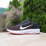 Чоловічі кросівки в стилі Nike Running чорні з білим і червоним, фото 10