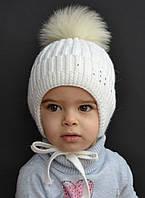 Зимняя шапка для девочки Снежинка (2-7 лет)
