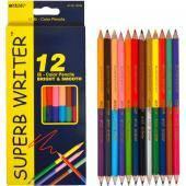 Карандаши цветные двусторонниие «Superb Writer» 12шт/24цвета  4110 MARCO