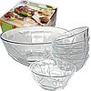 Салатники стеклянные, набор 7 шт. (1 шт.-1,9 л. 6 шт.-300 мл.)