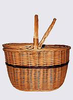 Плетеная корзина для пикника овальная, фото 1