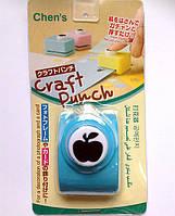 Дырокол фигурный Яблоко  кнопка 1,8 см