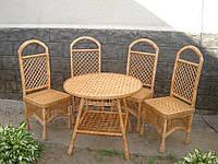 Набор плетеной мебели с круглым столом