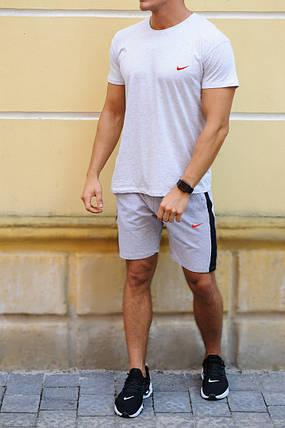 Мужской комплект в спортивном стиле найк-шорты с лампасами  и футболка  XS, S,M,L,XL ,XXL, фото 2