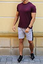 Мужской комплект в спортивном стиле найк-шорты с лампасами  и футболка  XS, S,M,L,XL ,XXL, фото 3