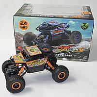 Джип на радио управлении машинка внедорожник модель Rock Crawler оранж 1:18