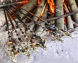 """Шампура ручной работы """"Козаки"""" в колчане из кожи, 6шт, фото 3"""