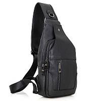 Модный рюкзак 4004A моношлейка из натуральной телячья кожи John McDee