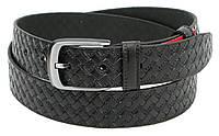 Мужской брючный ремень из кожи Skipper 1290-35 черный