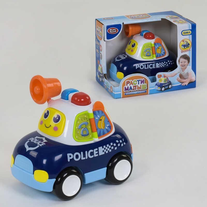 """Машина музыкальная """"Полиция"""" 7840 (18) """"Play Smart"""", 2 режима, световые эффекты, на батарейках, в коробке"""
