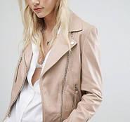 Бежевая кожаная куртка - с чем носить (ФОТО)