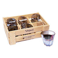 Набор 6 пьяных стаканов для виски 320 мл необычных BST 520005 29х21х14 см. Торжество