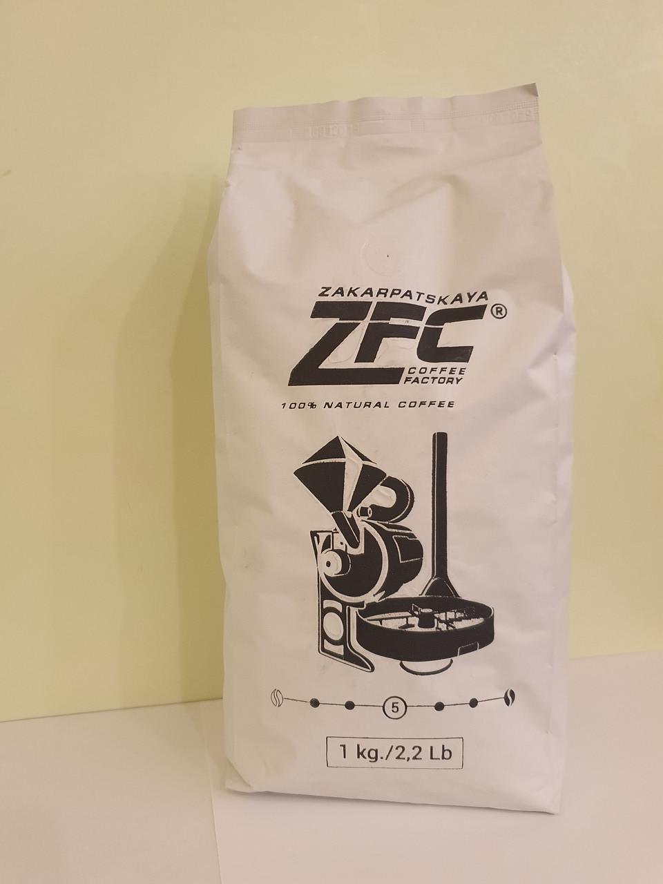 Кофе 100% робуста ZFC в зернах 1 кг