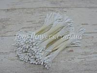 Тычинки матовые белые на нитке