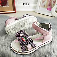 Элегантные детские босоножки, сандали для девочки. 24 размер