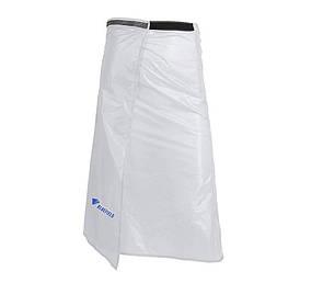 Туристическая накидка на ноги от дождя (юбка) BLUEFIELD, Плащ-дождевик. Материал 15D нейлон. Белая.