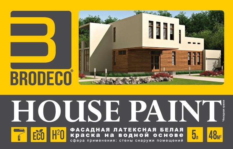 Фасадная латексная краска Brodeco House Paint 5 л.