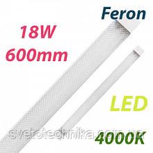 Светодиодный светильник Feron AL5020 18W 4000K IP40 600mm на 2 полосы линейный