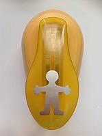 Дырокол фигурный Мальчик рычаг 2,5 см