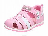 Розовые закрытые босоножки для девочки american club (польша)27 р-р - 17,5см, фото 1
