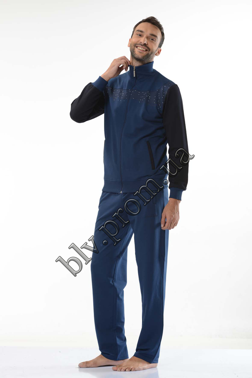 Трикотажный мужской спортивный костюм пр-во Турция FM14701 Indigo