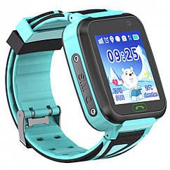 Детские умные часы с GPS трекером SK-009/TD-16 (Waterproof IP64) Blue (28496)