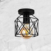 Потолочный чёрный светильник