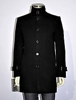 Полупальто мужское зимнее кашемир черный, фото 1