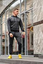 Спортивный костюм двунитка темно-серый весна-лето ( худи + штаны ) КАЧЕСТВО ТОП! Украинское производство!
