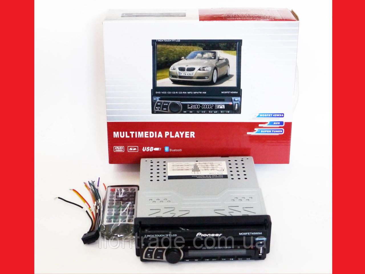 1din Магнитола Pioneer 712 USB + DVD + Bluetooth