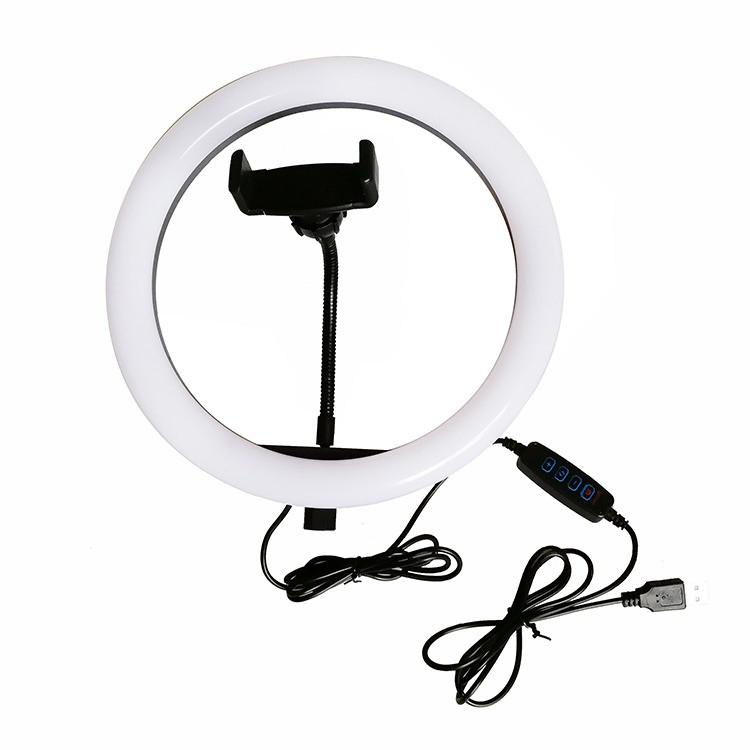 Кольцевая LED лампа для селфи 20 см ZD666 без штатива, сельфи кольцо