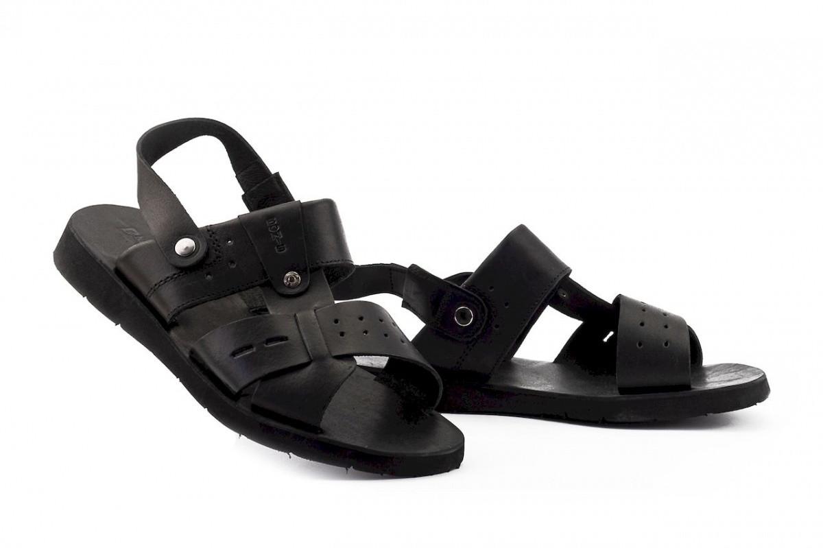Чоловічі сандалі шкіряні літні чорні Bonis Casual 110
