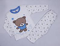 Пижама Мишка мал. бело-голубой трикотаж 47608 Vitamin Турция 1 (80)(р)