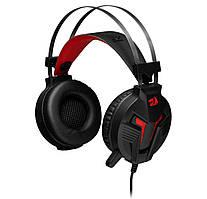 Игровые наушники с микрофоном REDRAGON Memecoleous Vibration Black / Red