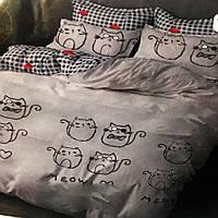 """""""Коты"""" полуторное постельное белье, 145/215, Тирасполь, Tirotex, 100% хлопок"""