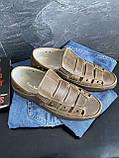 Мужские сандали кожаные летние оливковые Vankristi 1161, фото 5