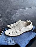 Чоловічі сандалі шкіряні літні бежеві Vankristi 1161, фото 5