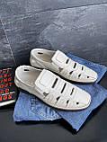 Чоловічі сандалі шкіряні літні бежеві Vankristi 1151, фото 5