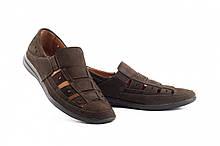 Чоловічі сандалі шкіряні літні коричневі Vankristi 1161