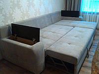 Перетяжка спального углового дивана