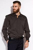 Мужская рубашка, офисная, однотонная из хлопка и полиэстера, с длинным рукавом  (с-ххл), фото 1