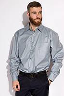 Чоловіча сорочка ,офісна,однотонна з поліестеру, з довгим рукавом (з-ххл)