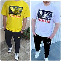 Чоловічий костюм Armani:футболка,штани (З-ХХЛ)