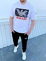 Чоловічий костюм Armani:футболка,штани духнитка (З-ХХЛ)