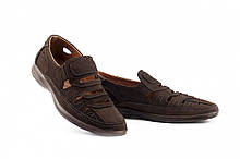 Чоловічі сандалі замшеві літні коричневі Vankristi 1151