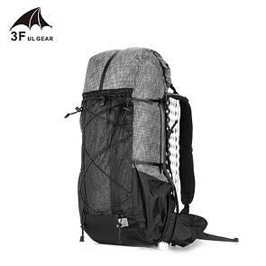 Рюкзак туристический 3F UL GEAR 40 + 16 Литра. Ультралегкий для трекинга серый.