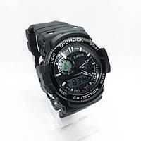 Часы мужские спортивные водостойкие G-SHOCK Casio (Касио), цвет черный с графитом ( код: IBW361B1 )